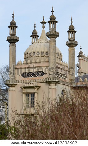 Brighton Pavilion Architecture Detail - stock photo
