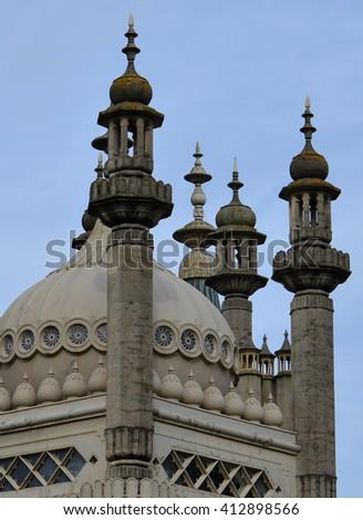 Brighton Pavilion Rooftop Detail - stock photo