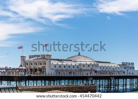 Brighton pier - stock photo