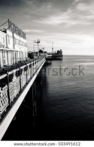 BRIGHTON SUSSEX UK 13 October 2016: Brighton Palace Pier, England