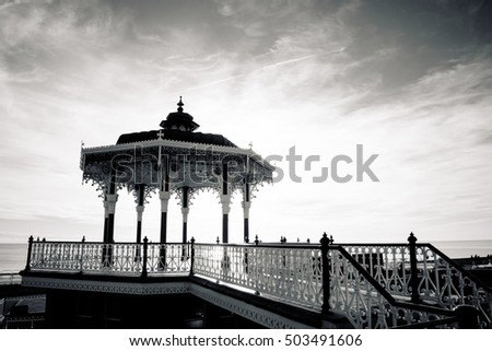 BRIGHTON SUSSEX UK 13 October 2016: Brighton Pavilion Bandstand, England