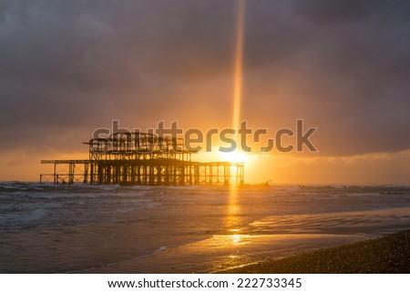 stock-photo-brighton-west-pier-at-sunset