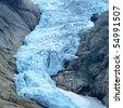 Briksdalsbreen Glacier, Jostedalsbreen National Park, Norway - stock photo