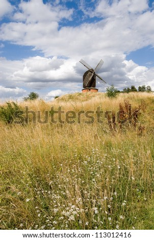 Brill windmill during a sunny summer day in UK - stock photo