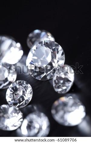 Brilliant diamond - stock photo