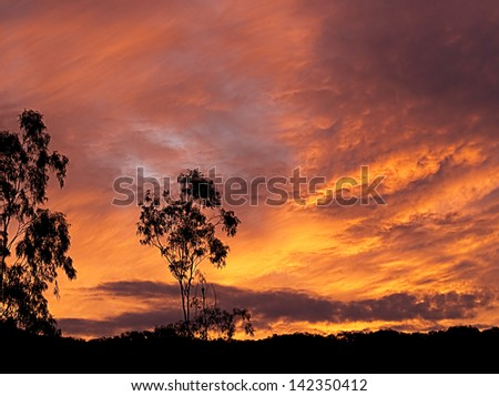Brilliant sky at sunset or sunrise background wallpaper