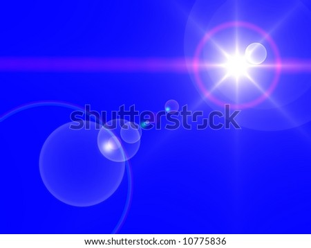 Brilliant star on a blue background - stock photo