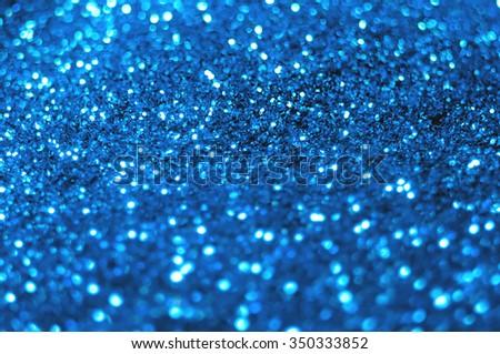 Brilliant the blue shiny festive background blurred - stock photo