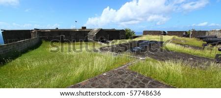 Brimstone Hill Fortress - Saint Kitts - stock photo