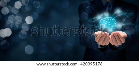 Bring creativity to your business, business vision, headhunter concepts, business intelligence, mental health and psychology, business decision making, copyright and intellectual property rights,. - stock photo