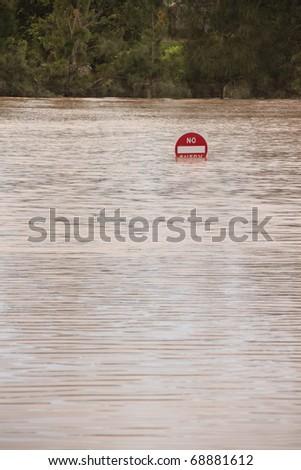 BRISBANE, AUSTRALIA - JAN 13 : Flood  Brisbane auchenflower  area Queensland declared natural disater January 13, 2011 in Brisbane, Australia - stock photo