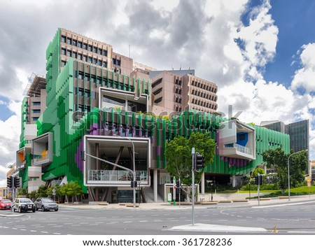 Brisbane, Australia on 9th Jan 2016:The Lady Cilento Children's Hospital is a new major children's hospital in South Brisbane, Queensland, Australia. The hospital was officially opened on 29 Nov 2014 - stock photo