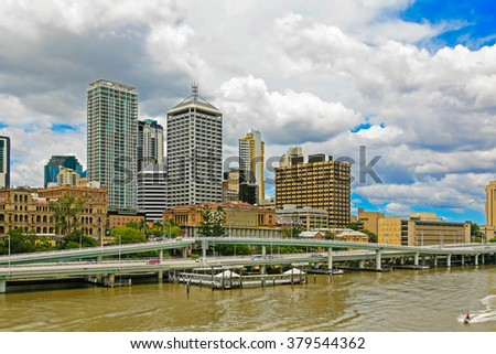 Brisbane River and City, North Bank