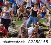 BRISTOL, ENGLAND - JULY 31: Audience members dance to music at the annual Harbour Festival in Bristol, England on July 31, 2011. The free event played host to a record 280,000 spectators - stock photo