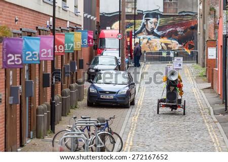 Bristol, UK. 5th July 2014. Lost at the carnival - stock photo