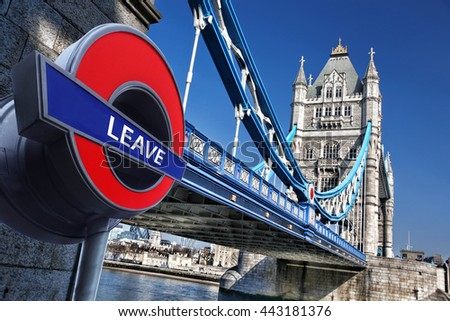 Britain votes to LEAVE European Union,Tower Bridge in London, England, United Kingdom - stock photo