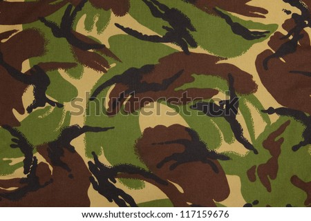 British armed force dpm camouflage fabric texture background - stock photo