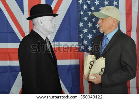 British Businessman begging American businessman
