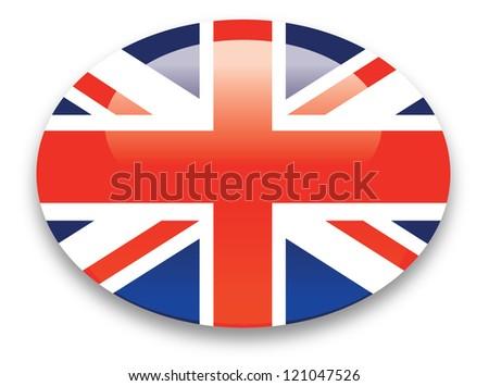 British flag icon - stock photo