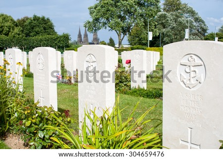 British grave of an unknown sailor from World War II