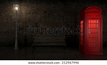 British Phone Booth in London - stock photo