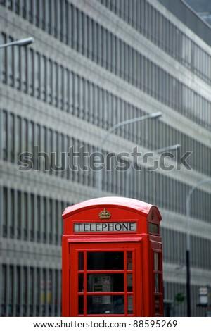 british phone box - stock photo
