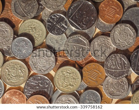 British Pound coins currency of the United Kingdom
