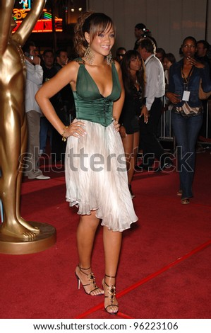 British singer RIHANNA at the 2005 World Music Awards at the Kodak Theatre, Hollywood, CA. August 31, 2005  Los Angeles, CA.  2005 Paul Smith / Featureflash - stock photo