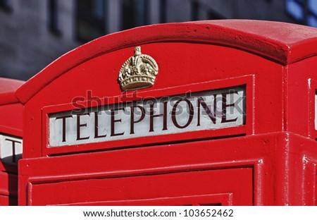 British telephone - stock photo