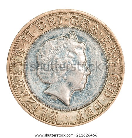 British Two Pound Coin (with clipping path)