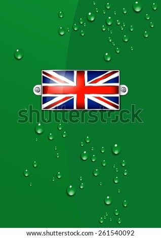 British Union Jack Enamel Flag - Background - Raster Version - stock photo
