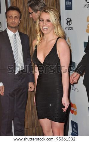 Britney Spears at the 2012 Clive Davis Pre-Grammy Party at the Beverly Hilton Hotel, Beverly Hills. February 11, 2012  Los Angeles, CA Picture: Paul Smith / Featureflash