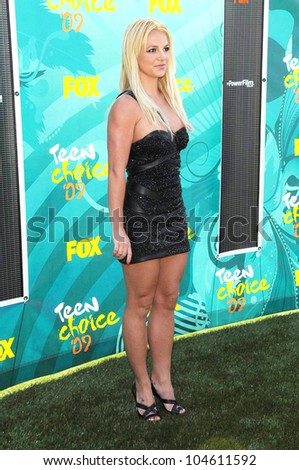 Britney Spears at the Teen Choice Awards 2009. Gibson Amphitheatre, Universal City, CA. 08-09-09 - stock photo