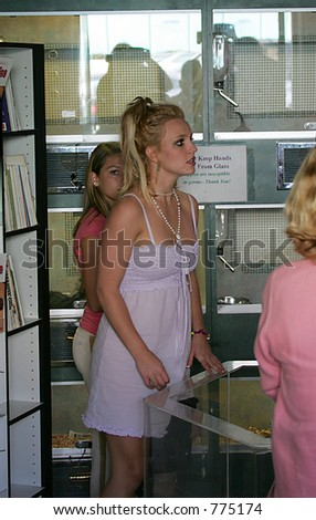 Brittany spears shopping for puppy, with sister lynn, before famed pet store/photographer crash - stock photo