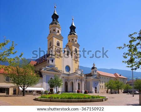 Brixen in Alto Adige, cathedral - stock photo