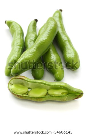 Broad beans - stock photo