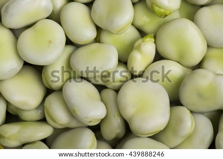Broad beans as a background