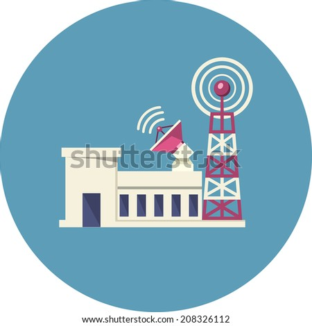Broadcast Tower  - stock photo
