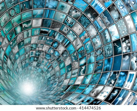 Broadcast Tunnel - stock photo