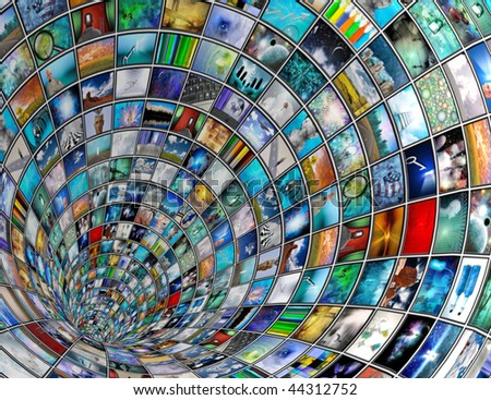 Broadcast Tunnel - stock photo