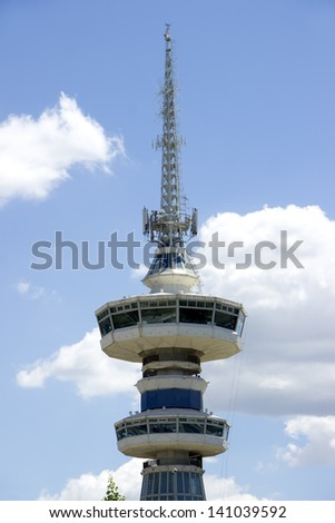 Broadcasting tower in Thessaloniki in Greece