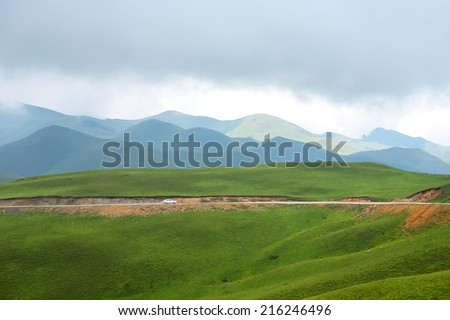 Broadly of Hui Zher mountains at Kunming in Yunnan, China - stock photo