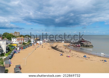 Broadstairs Beach in Kent - stock photo