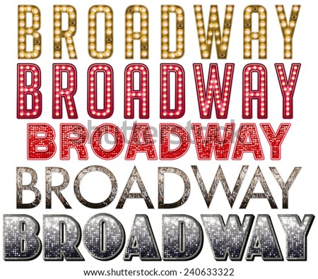 Broadway Hollywood Burlesque Marquee Collection - stock photo