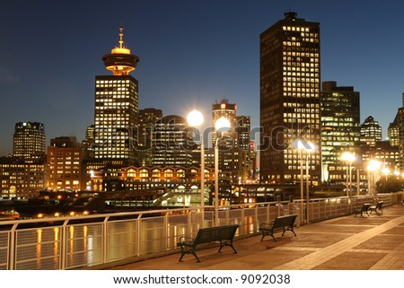 Broadway Meets Vancouver - stock photo