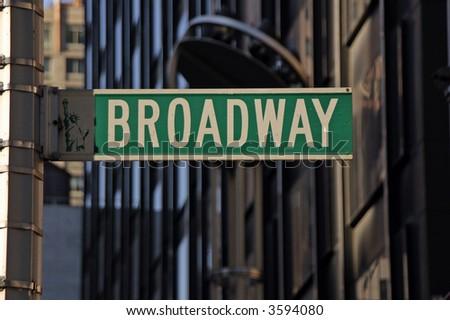 Broadway Street Sign - stock photo