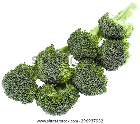 Broccoli cabbage isolated on white background - stock photo