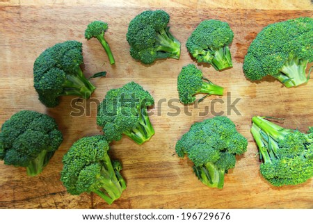 broccoli cutting board - stock photo