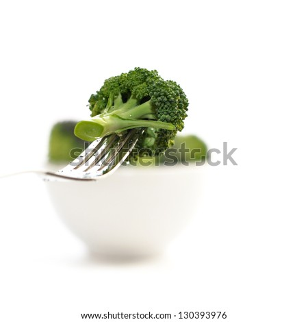 broccoli in bowl - stock photo