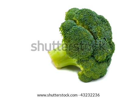 broccoli on white background - stock photo